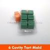 710013-Case - 6 Cavity Clam Shell Tart Mold - Case of 700