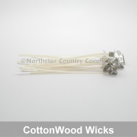CottonWood 75 Pre-tabbed Wicks 6 inch - 10 Pack