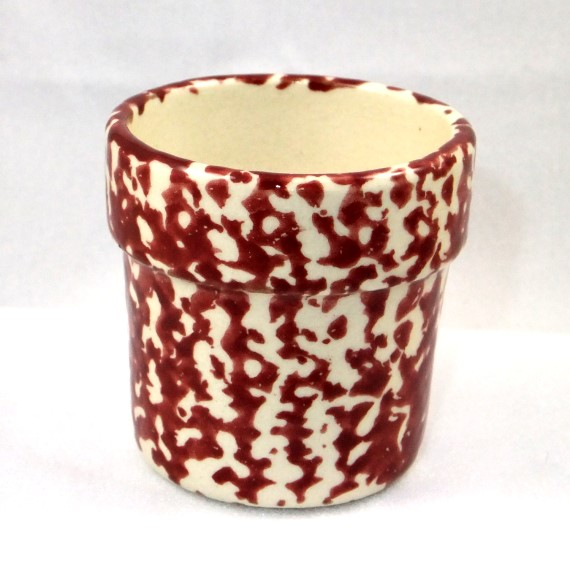 540022 - Heritage Pottery - Votive Cup - Cream and Burgundy