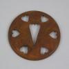 Rusty Tin Candle Cap Heart design  2-75 inch
