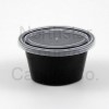 552050-25 - Candle Shooters  - 1 oz Black Oval, Lid - 25 Pack