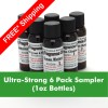 810----1 - Ultra-Strong Fragrance Oils 6 pack 1 ounce sampler - FREE Shipping